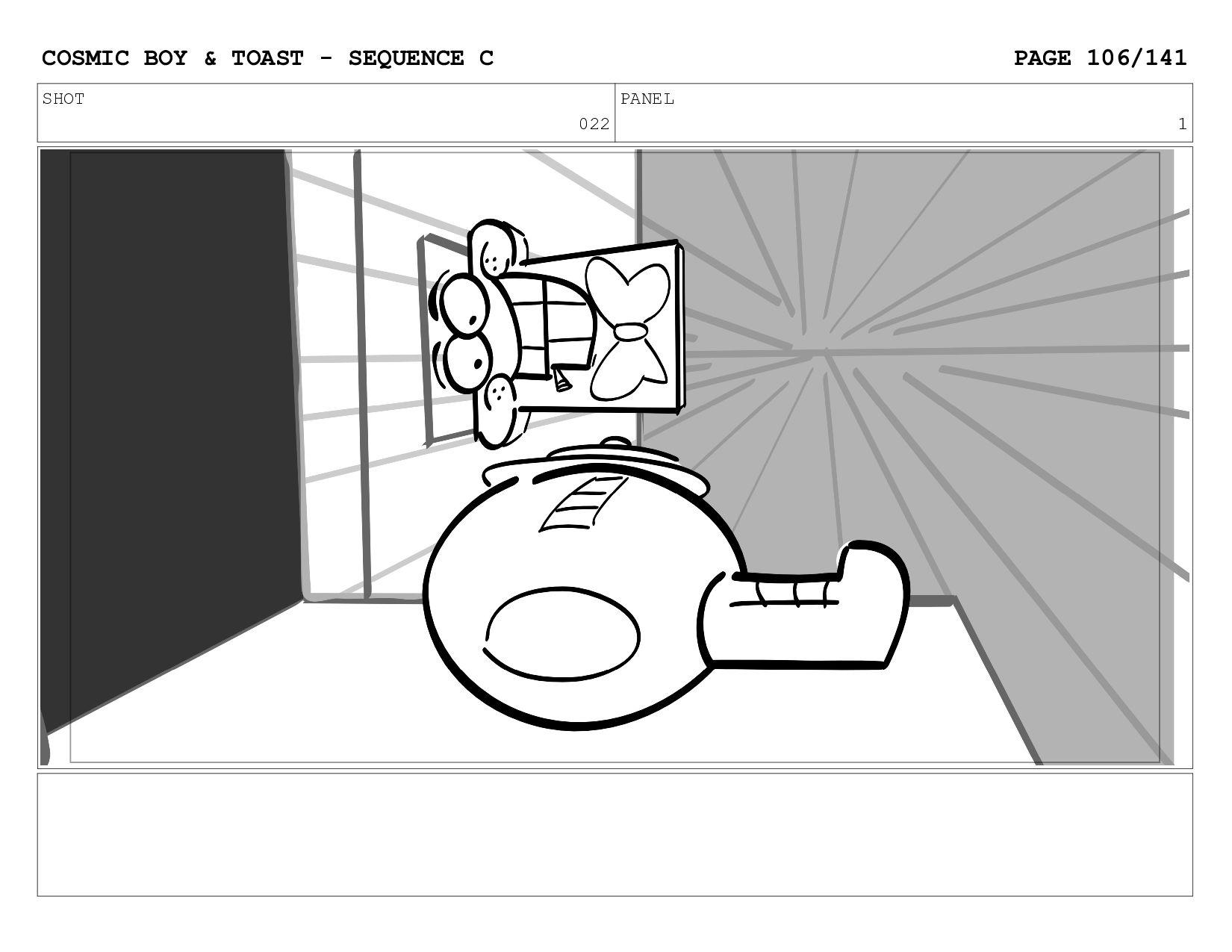 SCENE 022 PANEL A COSMIC BOY & TOAST - SEQUENCE...