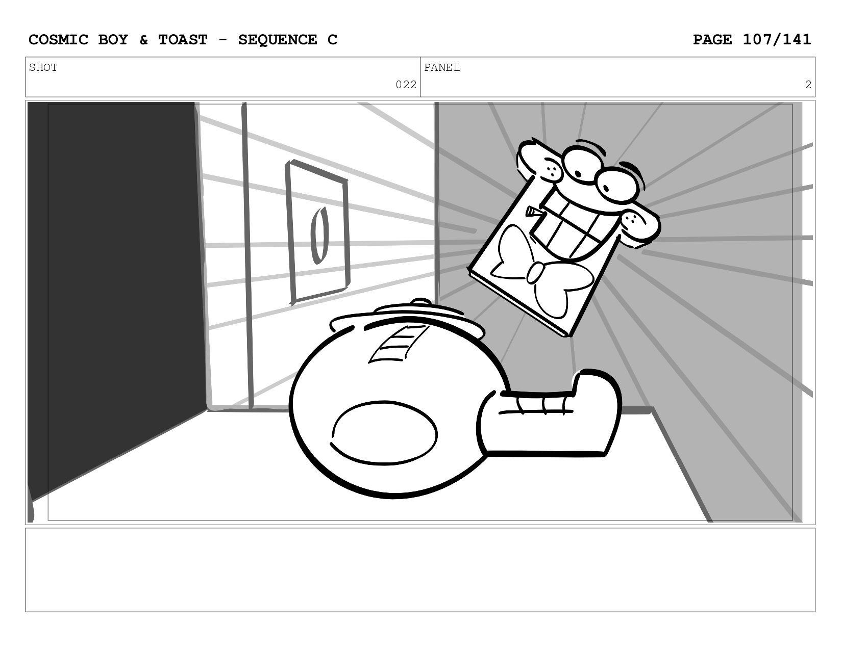 SCENE 022 PANEL B COSMIC BOY & TOAST - SEQUENCE...