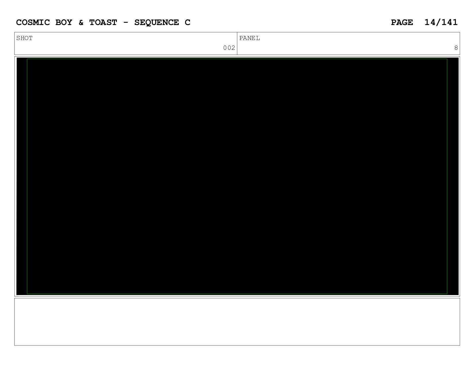 SCENE 002 PANEL H COSMIC BOY & TOAST - SEQUENCE...