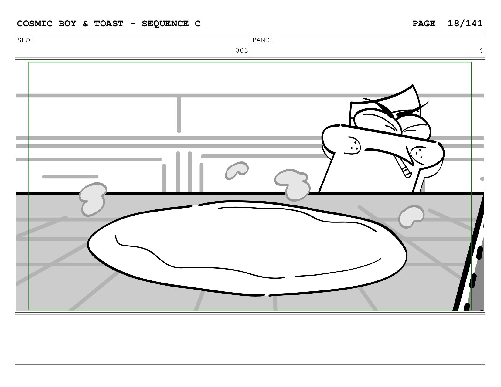 SCENE 003 PANEL D COSMIC BOY & TOAST - SEQUENCE...