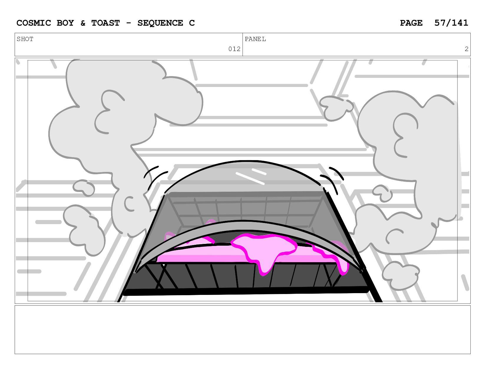 SCENE 012 PANEL B COSMIC BOY & TOAST - SEQUENCE...