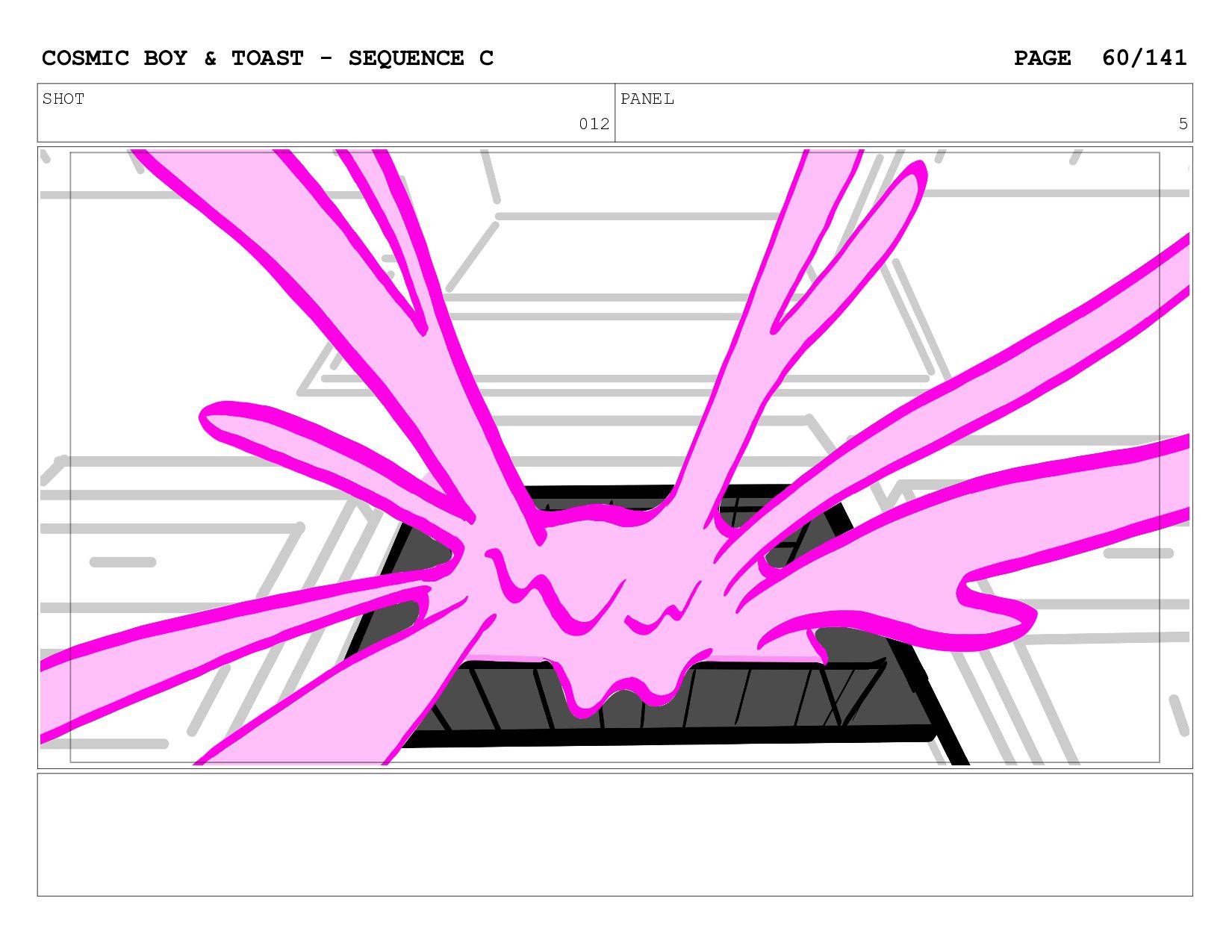 SCENE 012 PANEL E COSMIC BOY & TOAST - SEQUENCE...