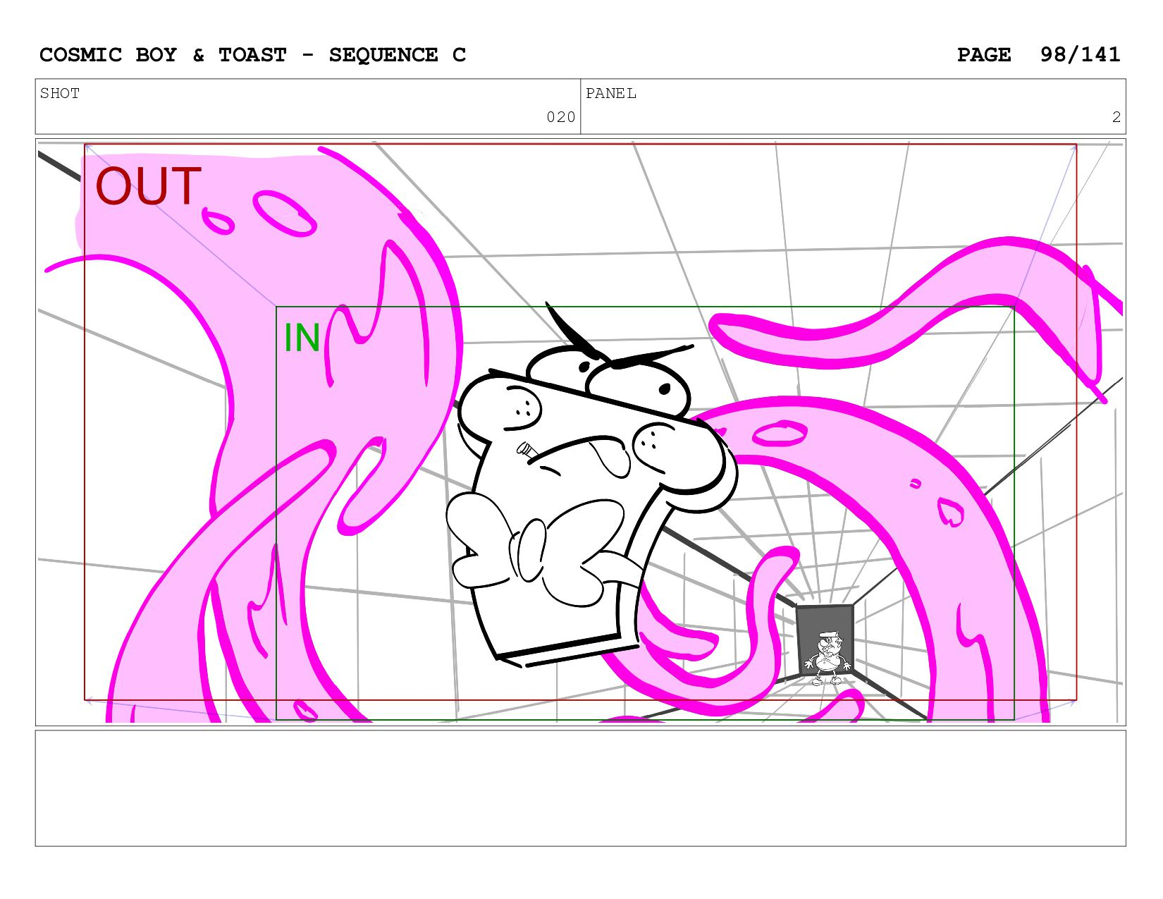 SCENE 020 PANEL B COSMIC BOY & TOAST - SEQUENCE...
