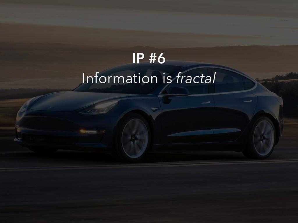 IP #6 Information is fractal