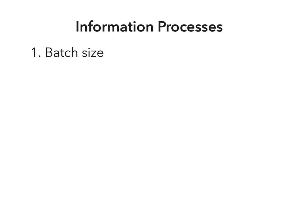 Information Processes 1. Batch size