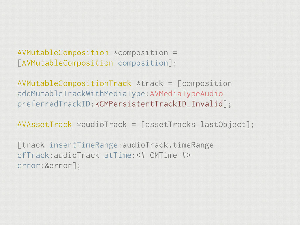AVMutableComposition *composition = [AVMutableC...