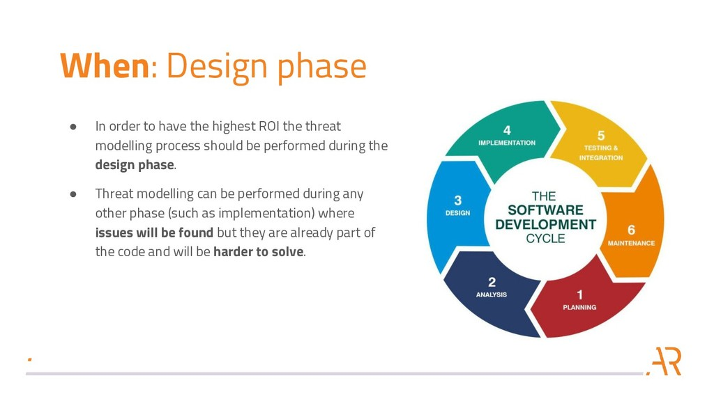 When: Design phase ● In order to have the highe...