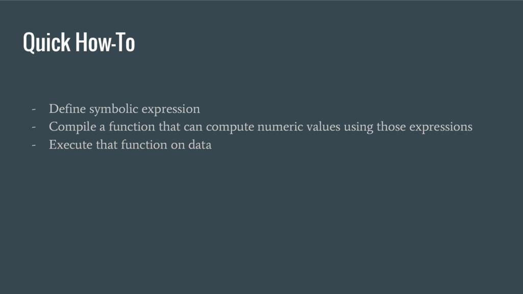 Quick How-To - Define symbolic expression - Com...