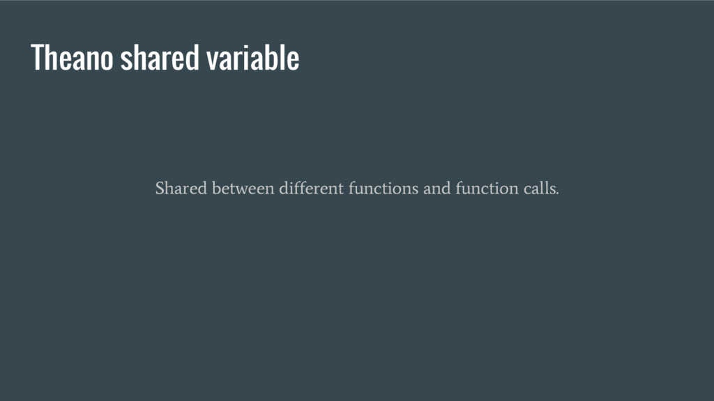 Theano shared variable Shared between different...