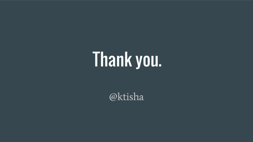 Thank you. @ktisha