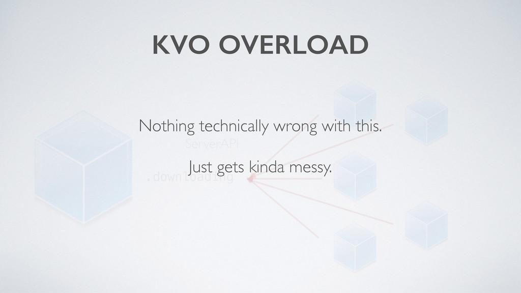 KVO OVERLOAD ServerAPI .downloading Nothing tec...