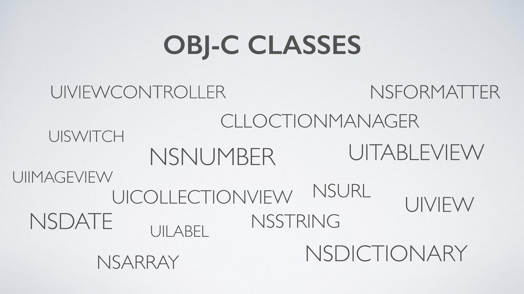 OBJ-C CLASSES UIVIEWCONTROLLER NSSTRING NSNUMBE...