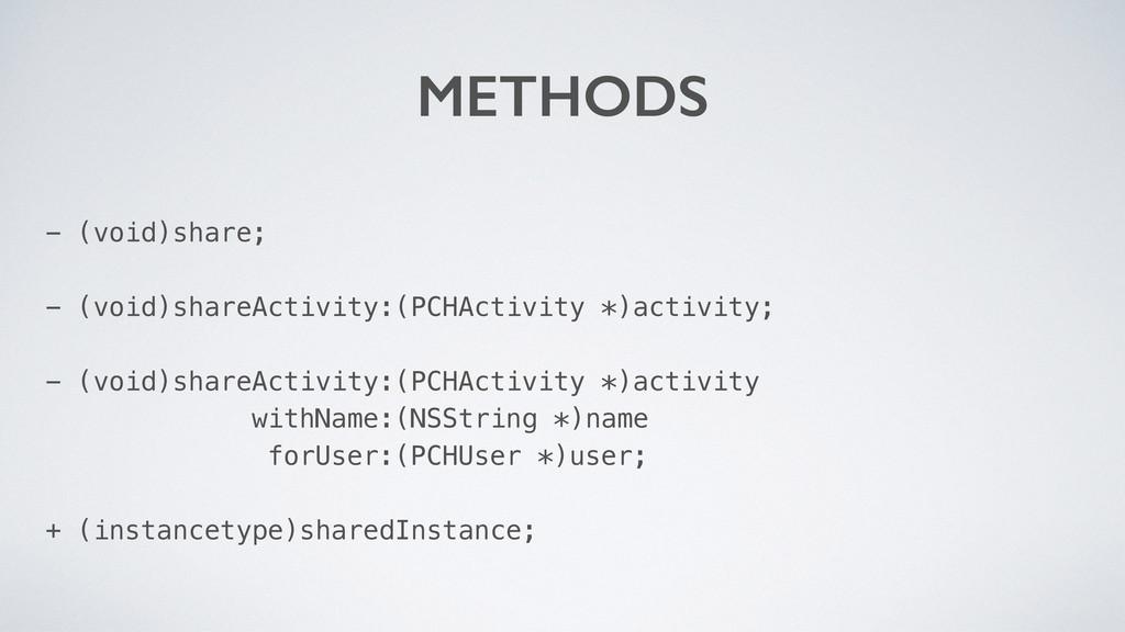 - (void)share; - (void)shareActivity:(PCHActivi...