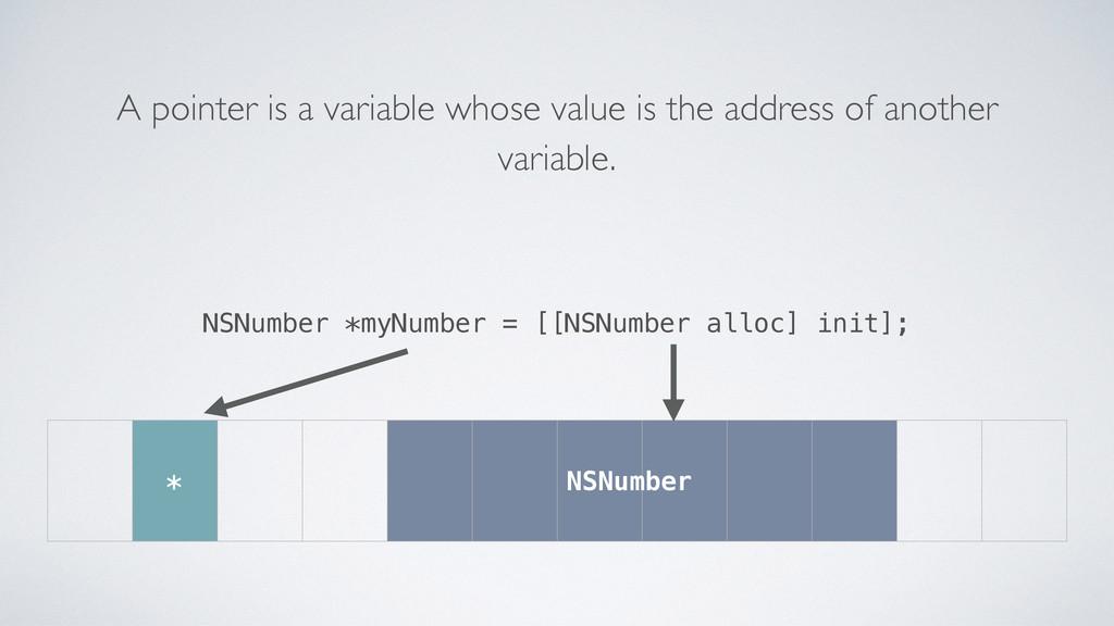 NSNumber *myNumber = [[NSNumber alloc] init]; A...