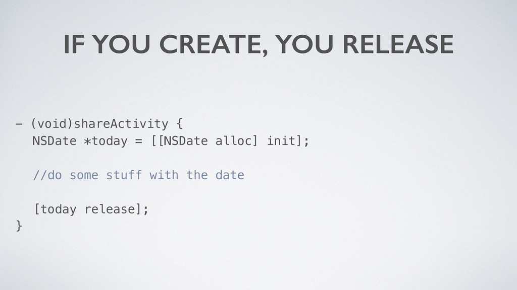IF YOU CREATE, YOU RELEASE - (void)shareActivit...