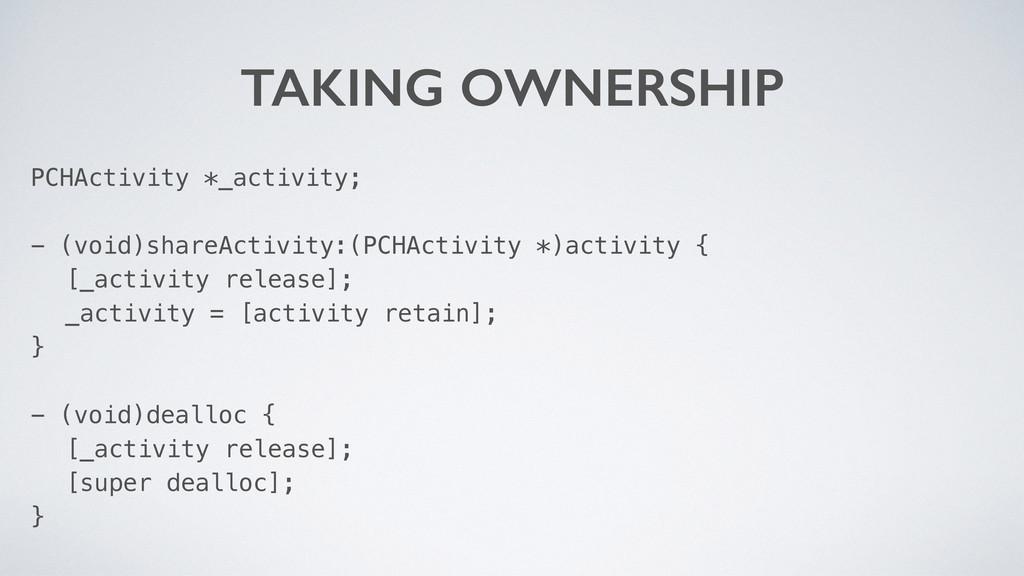 TAKING OWNERSHIP PCHActivity *_activity; - (voi...