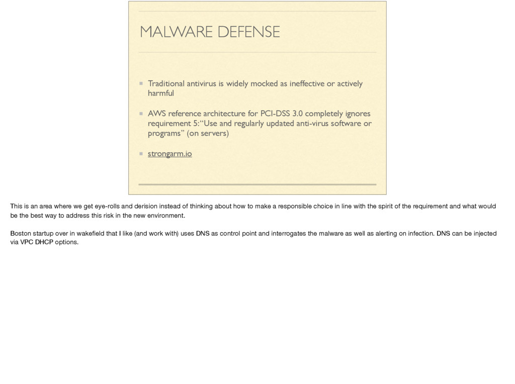 MALWARE DEFENSE Traditional antivirus is widely...