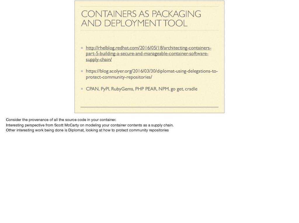 CONTAINERS AS PACKAGING AND DEPLOYMENT TOOL htt...