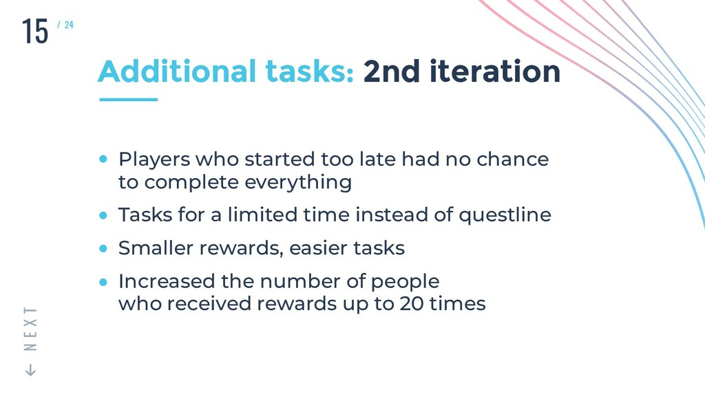 15 T X E N / 24 Additional tasks: 2nd iteration...