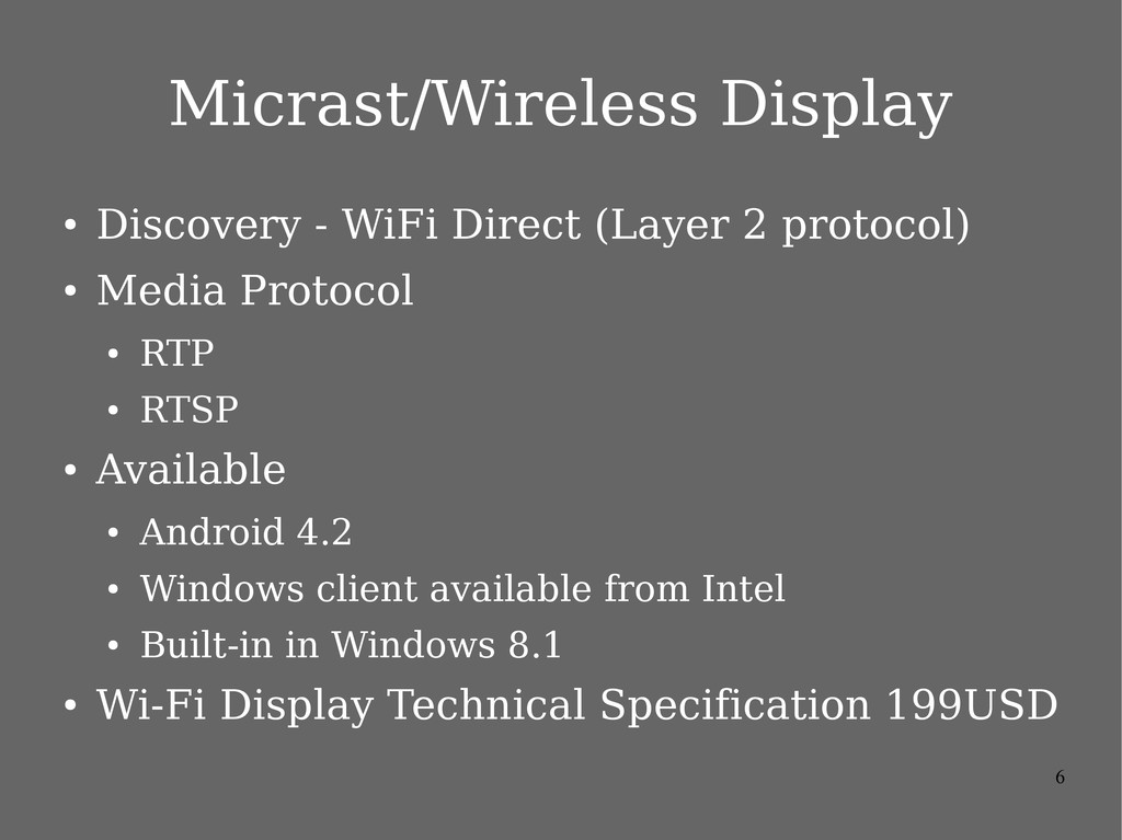 6 Micrast/Wireless Display ● Discovery - WiFi D...