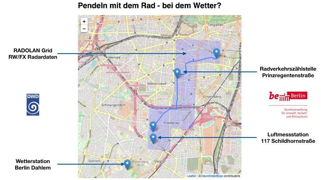 Radverkehrszählstelle Prinzregentenstraße Luftm...