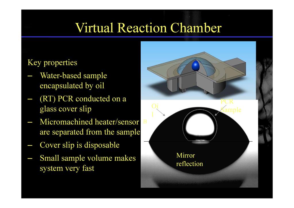 Virtual Reaction Chamber Key properties – Water...