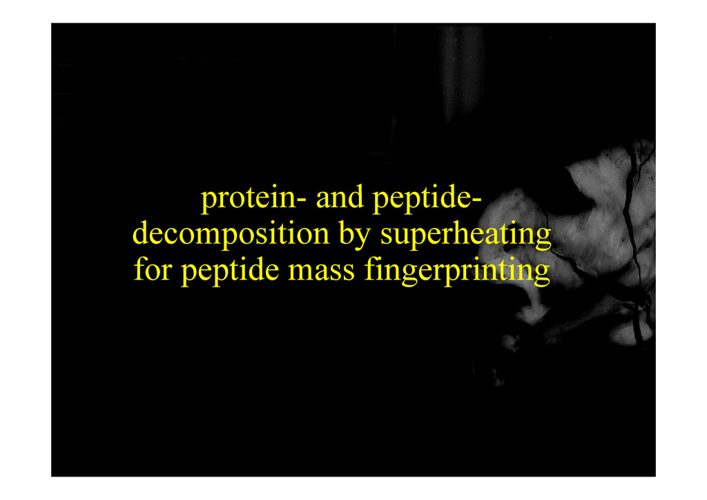 protein and peptide protein- and peptide- decom...