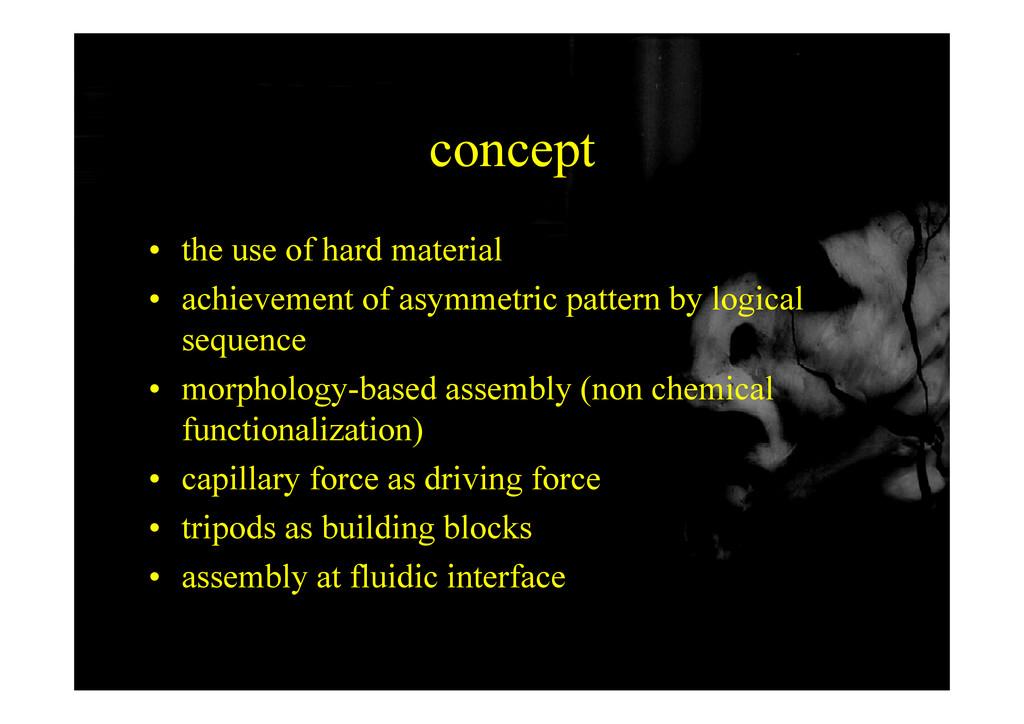 concept • the use of hard material • achievemen...