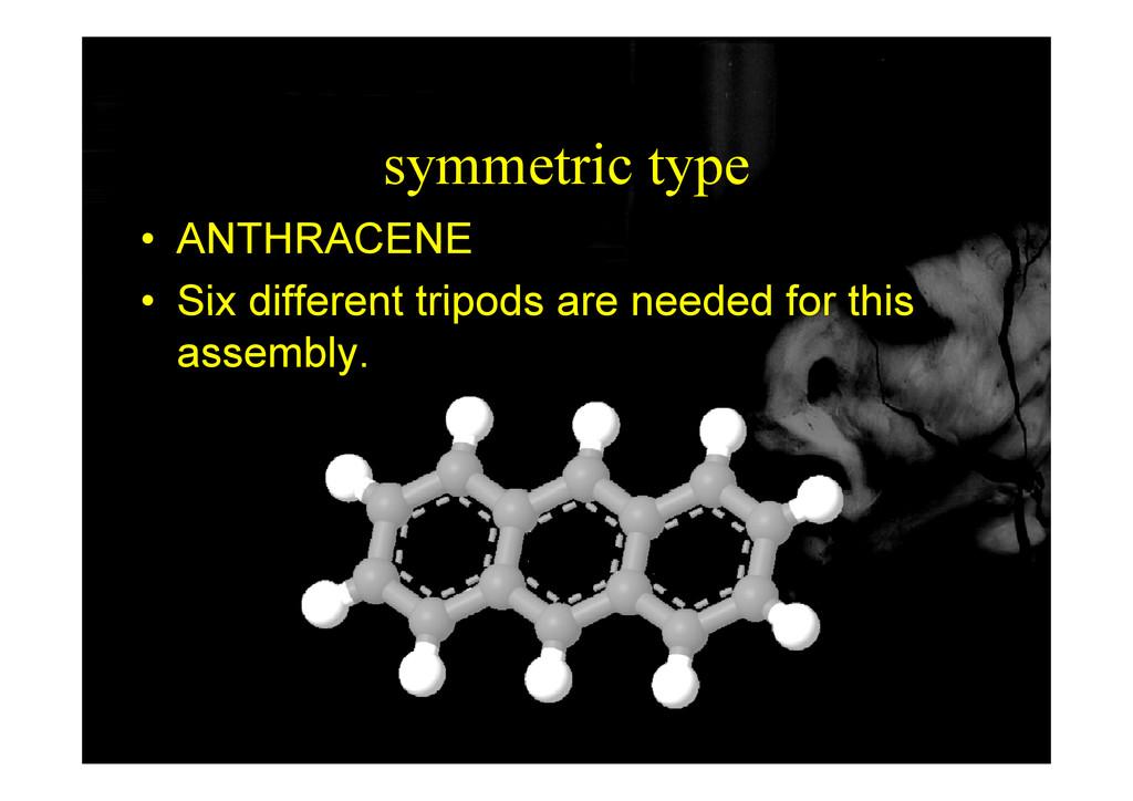 symmetric type • ANTHRACENE • Six different tri...