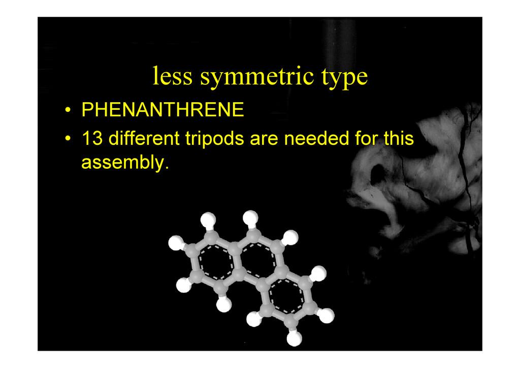 less symmetric type • PHENANTHRENE • 13 differe...