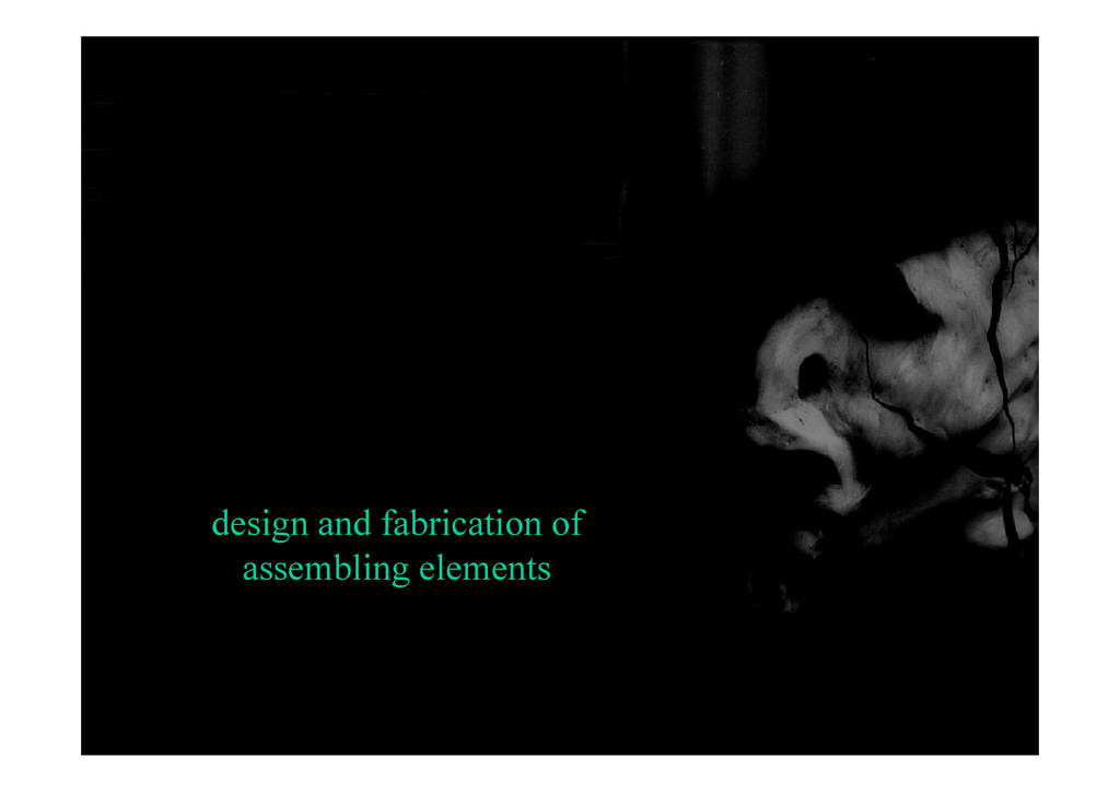 design and fabrication of assembling elements a...
