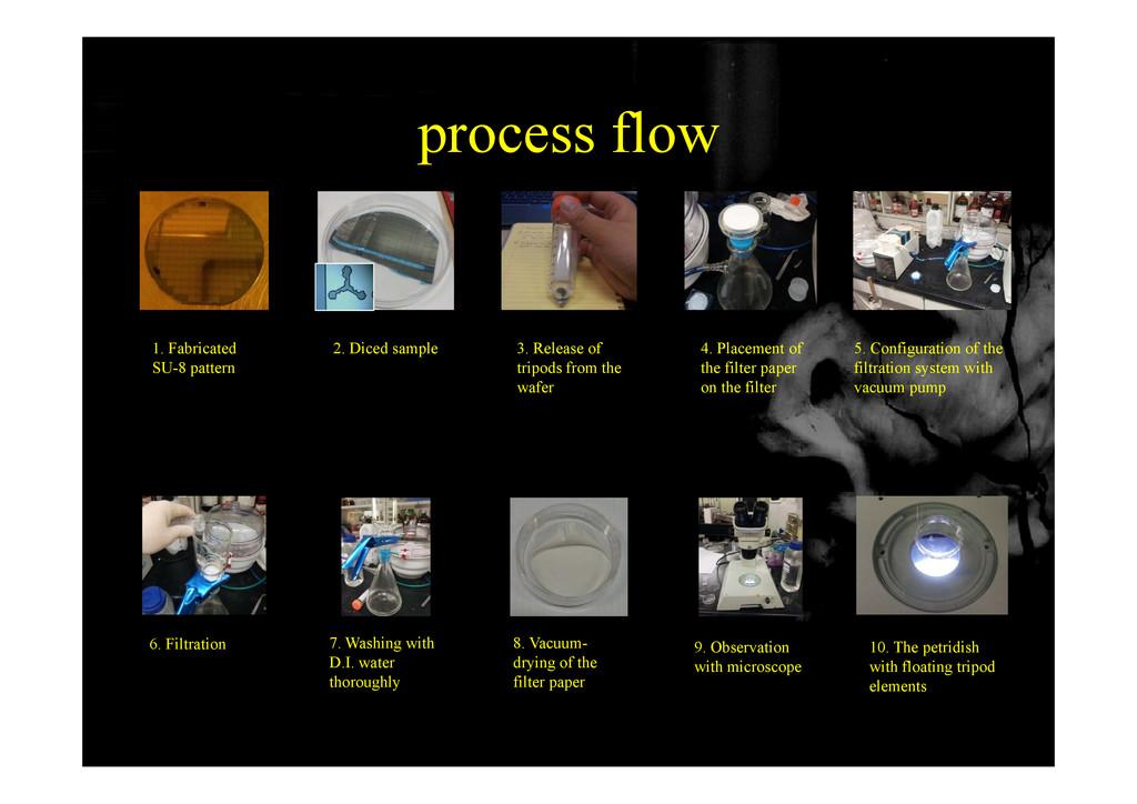 process flow process flow 1. Fabricated SU-8 pa...
