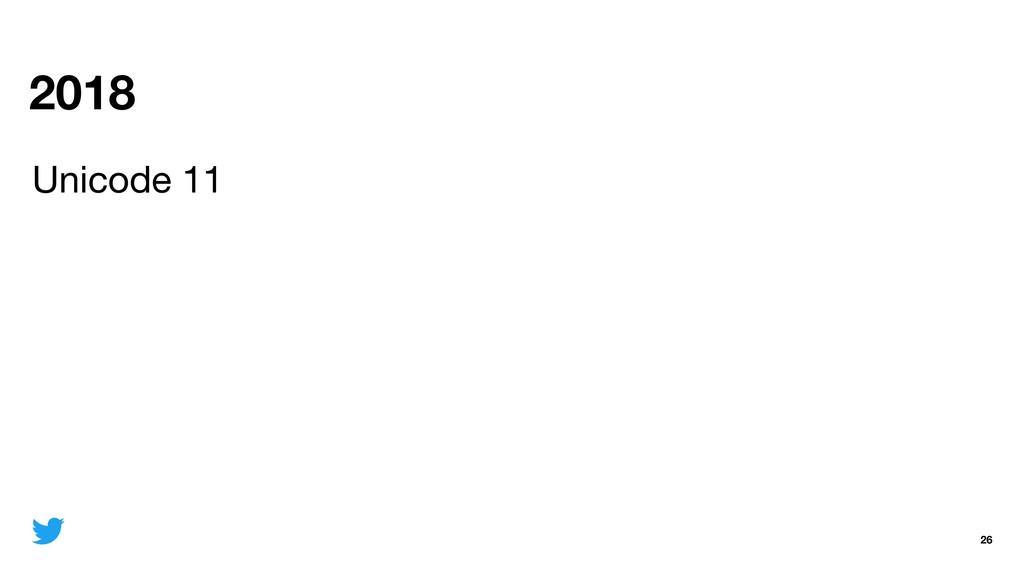2018 26 Unicode 11