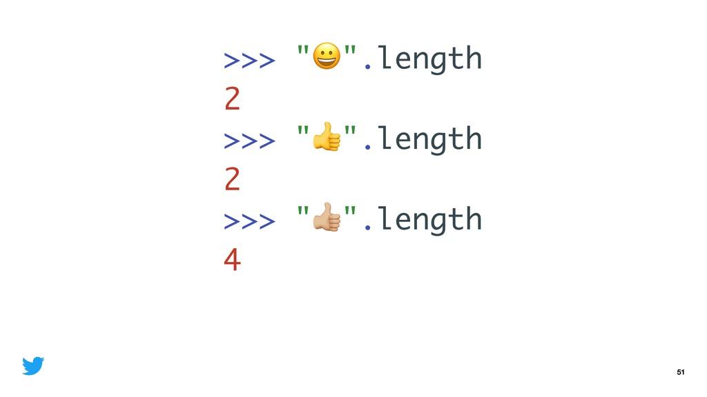 "51 >>> """".length 2 >>> """".length 2 >>> ""%"".leng..."