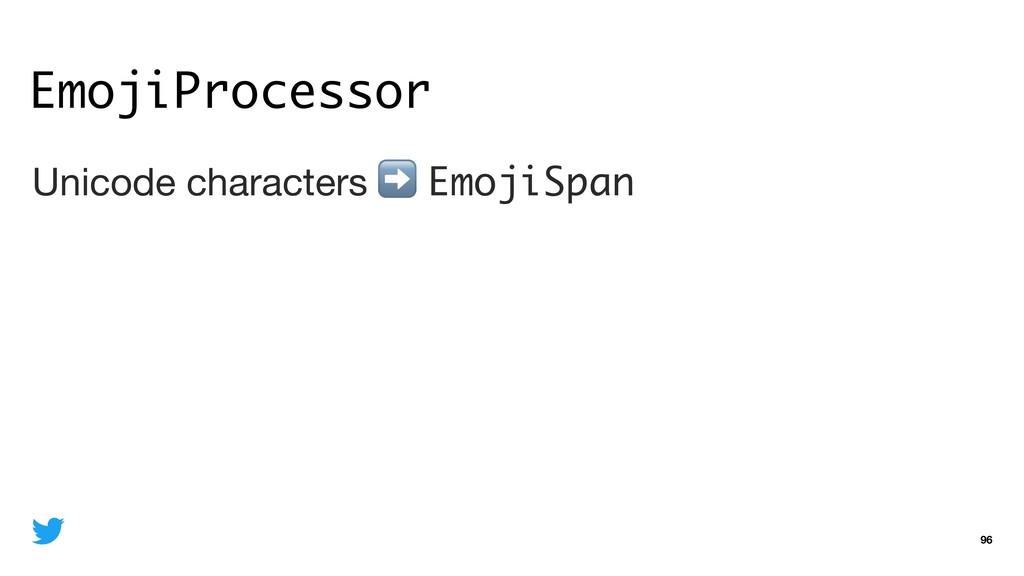 EmojiProcessor 96 Unicode characters ➡ EmojiSpa...