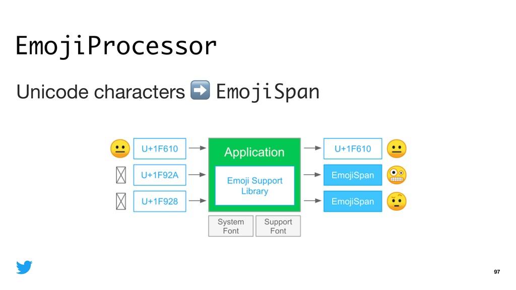 EmojiProcessor 97 Unicode characters ➡ EmojiSpa...