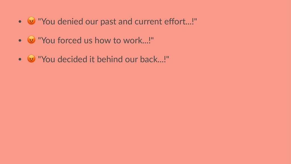 "• ! ""You denied our past and current effort...!""..."