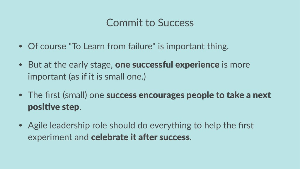 "Commit to Success • Of course ""To Learn from fa..."