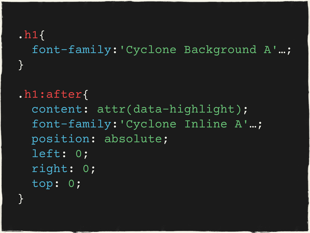 .h1{ font-family:'Cyclone Background A'…; } .h1...