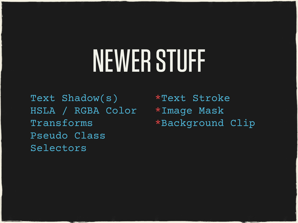 NEWER STUFF Text Shadow(s) HSLA / RGBA Color Tr...