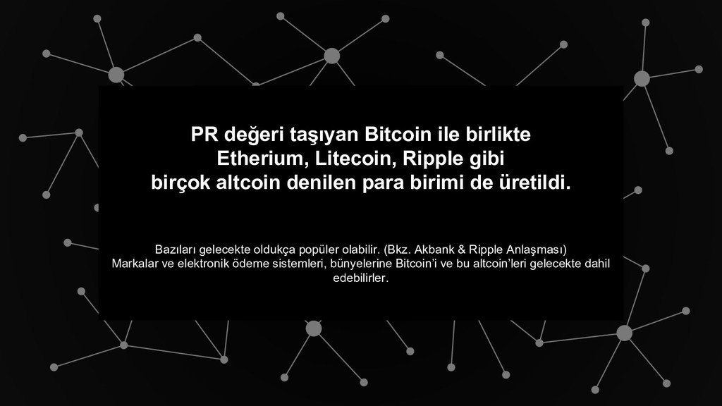 PR değeri taşıyan Bitcoin ile birlikte Etherium...