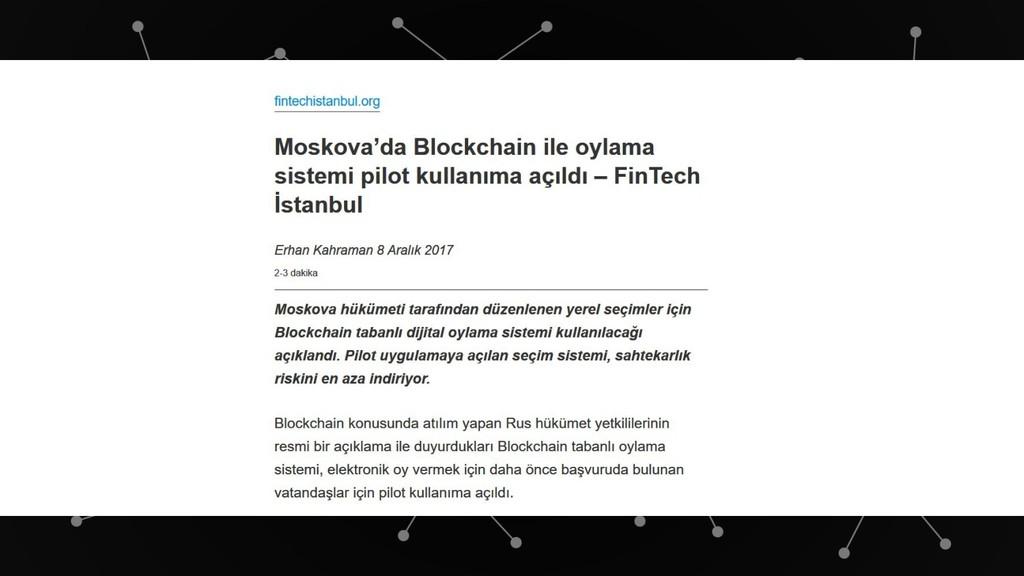 Seçimlerde Blockchain ile Oy Kullanılabilir. Bl...