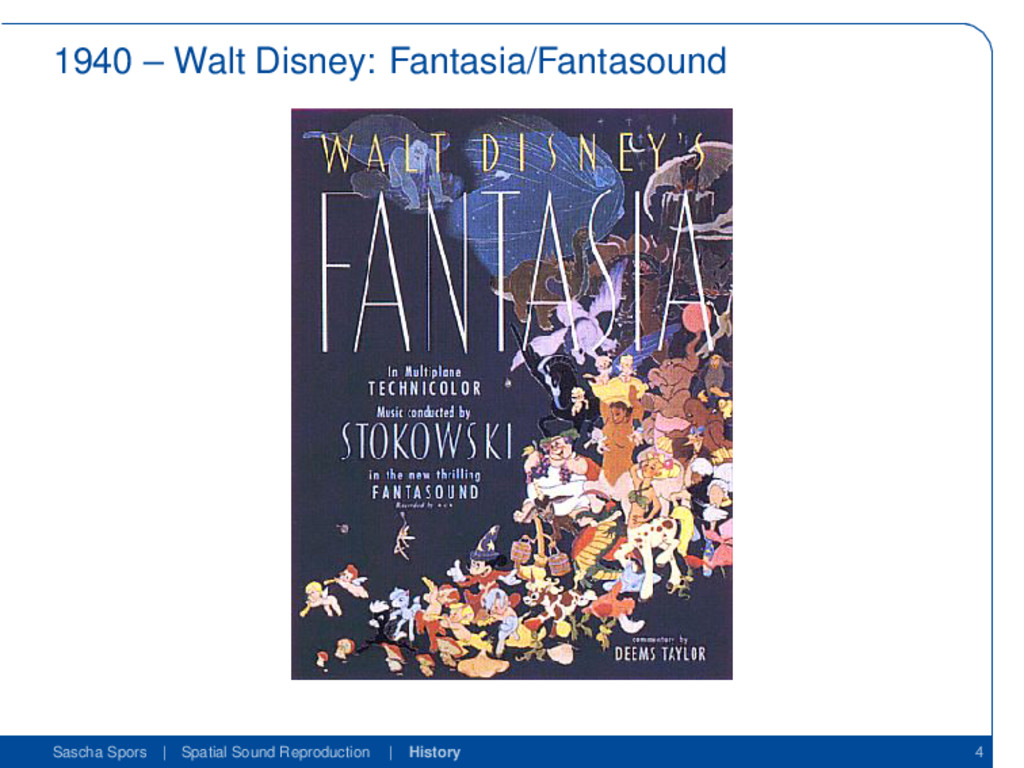 1940 – Walt Disney: Fantasia/Fantasound Sascha ...