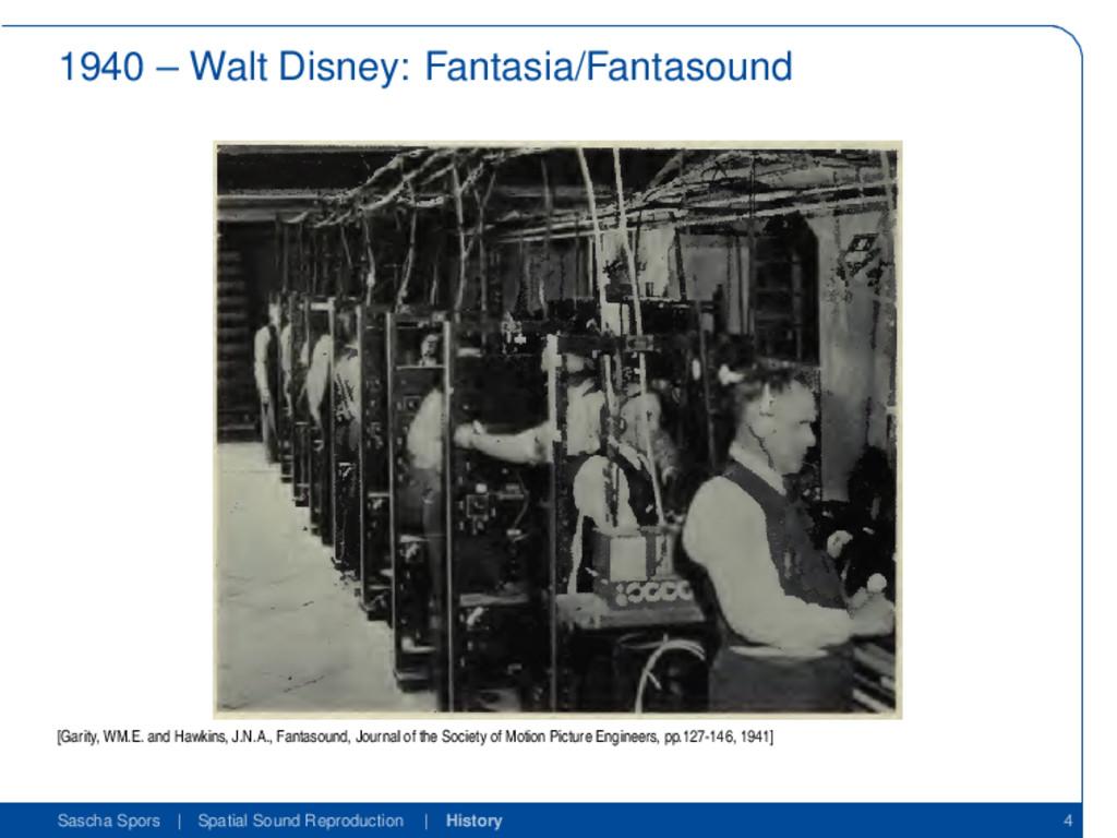 1940 – Walt Disney: Fantasia/Fantasound [Garity...