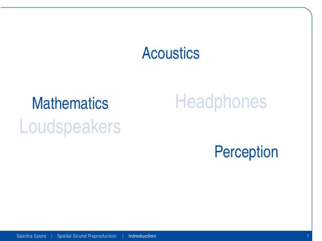 Loudspeakers Headphones Mathematics Acoustics P...