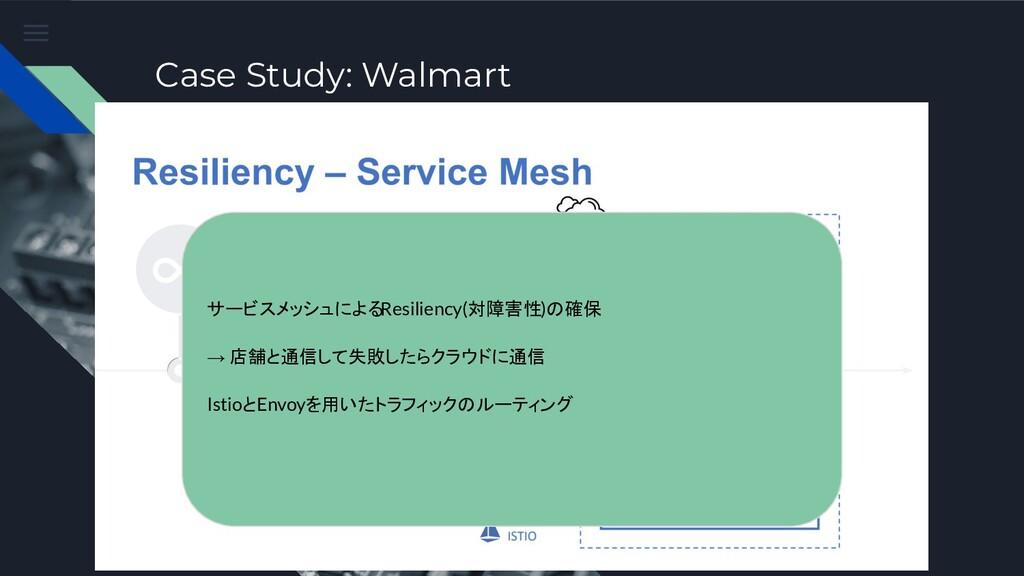 Case Study: Walmart サービスメッシュによるResiliency(対障害性)...
