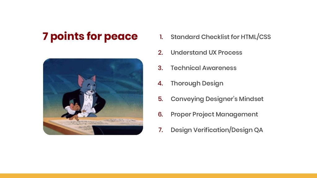 7 points for peace 1. Standard Checklist for HT...