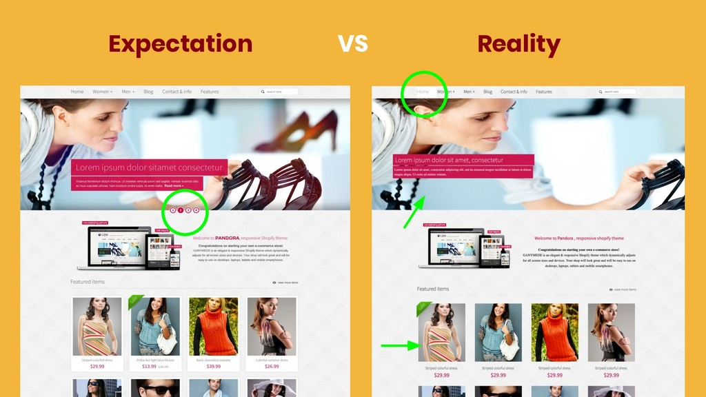 Expectation Reality VS