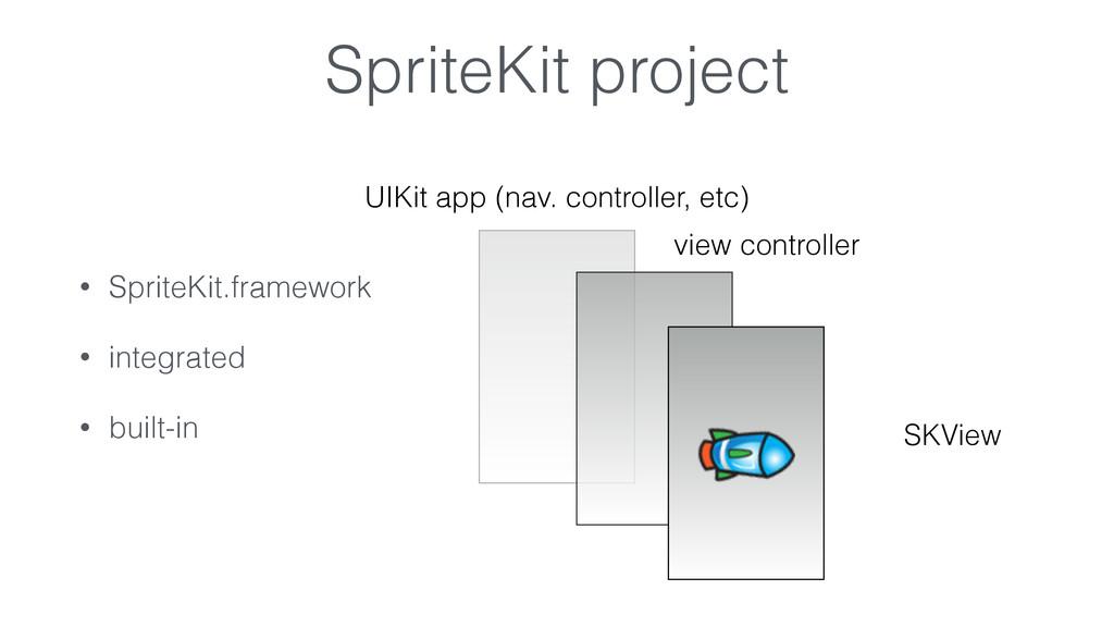 SpriteKit project • SpriteKit.framework • integ...