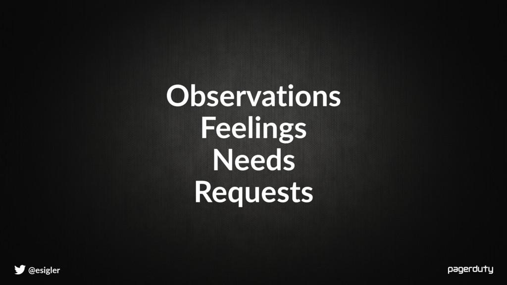 @esigler Observations Feelings Needs Requests